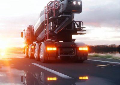 Producción, transporte y reciclado de hormigón