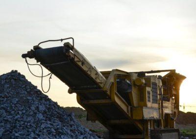 Planta de reciclado de materiales construcción